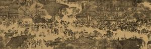 "A Detail of a Scroll Called ""Going Up the River at the Qingming (Spring) Festival"" by Zhang Zeduan"