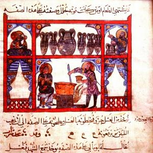 A Detail of Scene from a 13th Century Arabic Version of Dioscorides' Materia Medica