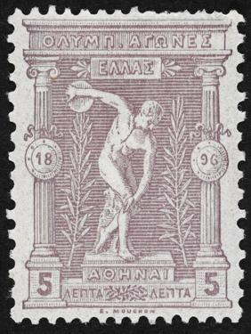 A Discus Thrower. Greece 1896 Olympic Games 5 Lepta Unused - Philatelic Collections,