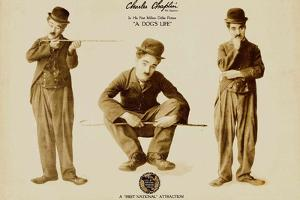 A Dog's Life, Charlie Chaplin Poster Print