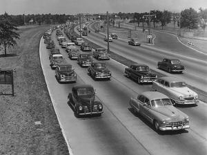 Grand Central Parkway Traffic by A. E. French