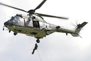 A Eurocopter As332 Super Puma of the Swiss Air Force