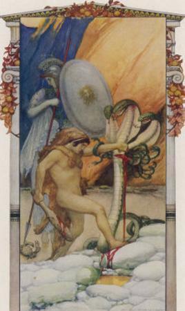 Hercules Slays the Hydra of Lerna