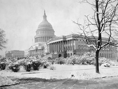U. S. Capitol in Winter by A.F. Nieman