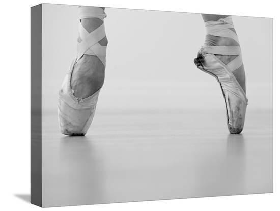 A female ballet dancer--Stretched Canvas Print