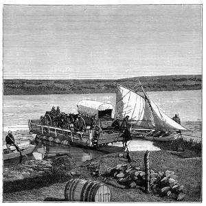 A Ferry on the Vaal River, Transvaal, South Africa, C1890