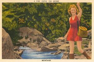 A Fine Catch, Girl Fishing