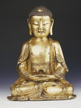 A Fine Ming Gilt-Bronze Buddha 16th Century