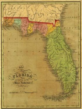 Map of Florida, 1826 by A. Finley