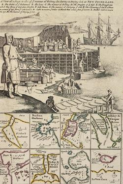 A Fishermen Colony in Newfoundland, 1709-1720, from a New and Correct Map of the World