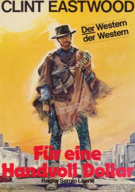 A Fistful of Dollars, German Movie Poster, 1964