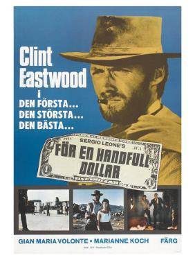 A Fistful of Dollars, Swedish Movie Poster, 1964