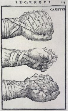 Detailed Views of a Roman Cestus a Leather Glove Used in Ancient Boxing by A. Forbes