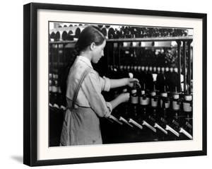 A Fourteen-Year-Old Girl Working as a Spool Tender