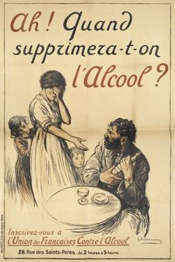 A French Poster On the Subject Of Alcohol Abuse