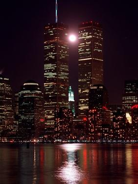 A Full Moon Rises Between New York's Twin Towers for the Second Time This Month