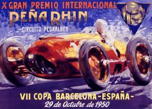 Pena Rhin Auto Racing, c.1950 by A. Garcia
