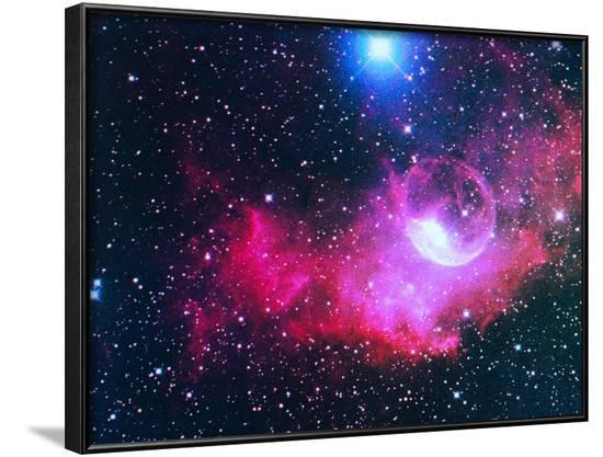 A Gaseous Nebula-Digital Vision.-Framed Photographic Print