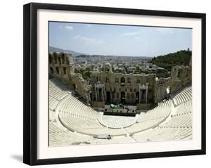 A General View of the Herod Atticus Theater at the Foot of the Acropolis Hill