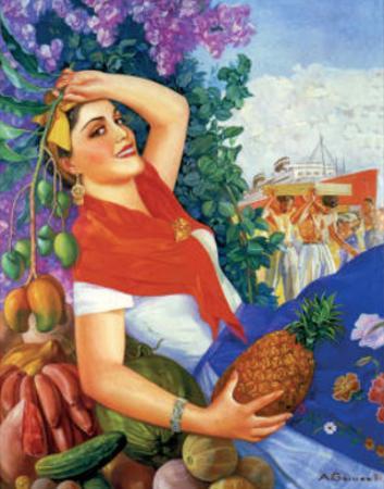 Woman Holding Fruit