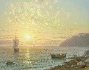 Sunset At Jalta by A. Gorjacev