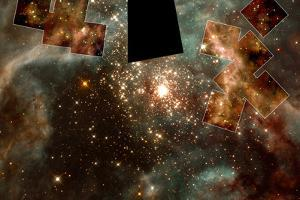 A Grand View of the Birth of Hefty Stars Space Photo Art Poster Print