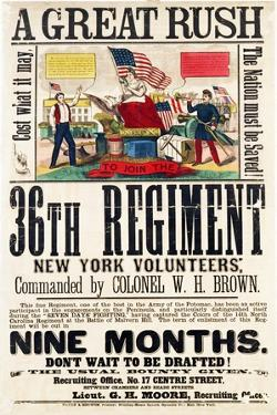 A Great Rush', Recruitment Poster for 36th Regiment, Published by Baker and Goodwin