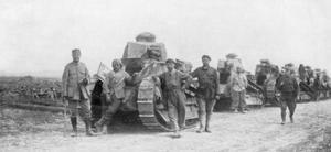 A Group of Light Tanks, Soissons, France, 1918