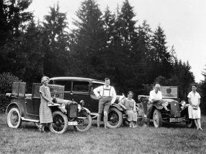 A Group of People on an Outing with their Cars, C1929-C1930