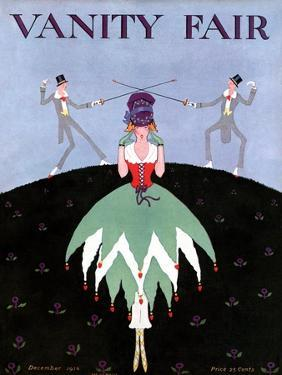 Vanity Fair Cover - December 1916 by A. H. Fish