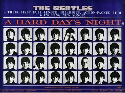 A Hard Day's Night, British Poster, (Top to Bottom), 1964
