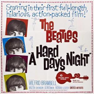 A Hard Day's Night, the Beatles, Paul Mccartney, John Lennon, George Harrison, Ringo Starr, 1964