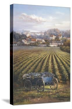 Grapes on Blue Wagon by A.J. Casson