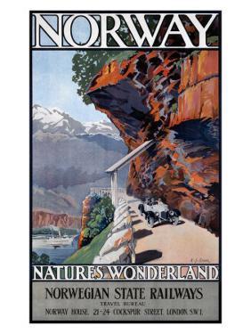 Nature's Wonderland Norwegian State Railway by A J Green