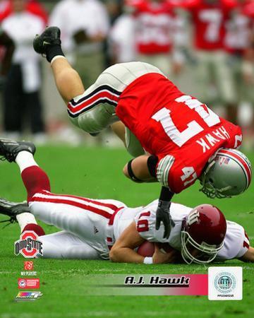 A.J. Hawk Ohio State University 2004 Action