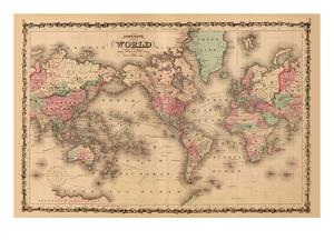 World Map by A^J^ Johnson