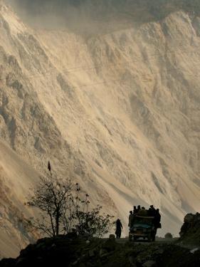 A Jeep Carrys People in the Neelum Valley, North of Muzaffarabad