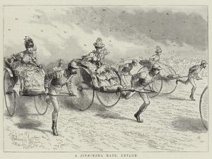 A Jinriksha Race, Ceylon