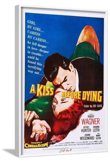 A Kiss before Dying--Framed Art Print