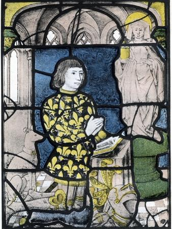 A Knight (De Bernemicour) at His Orisons before an Image of St Mary Magdalene, C1500