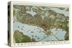 Map of Seattle, Washington, 1891 by A. Koch