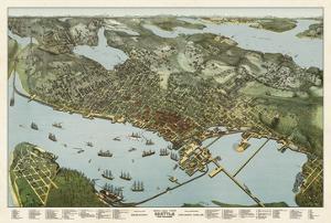 Map of Seattle, Washington, 1891 by A. Koch