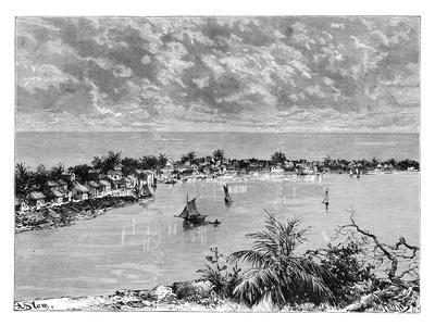 General View of Hopetown, Abaco Island, C1890