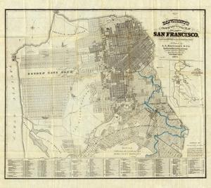 Official Guide Map of City and County of San Francisco, c.1873 by A^ L^ Bancroft