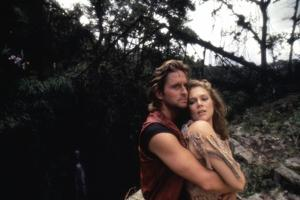 A la poursuite du diamant vert Romancing the stone by Robert Zemeckis with Michael Douglas and Kath
