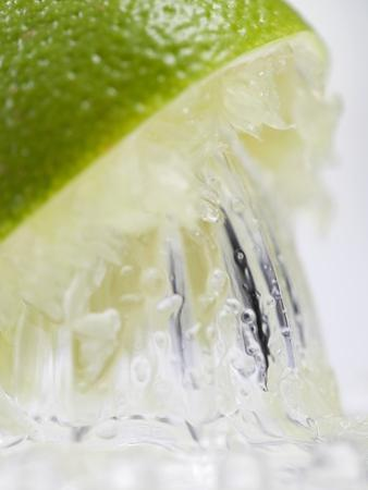 A Lime Being Juiced