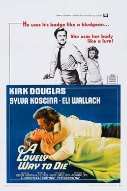 A Lovely Way to Die, Top and Bottom: Kirk Douglas, Sylva Koscina, 1968