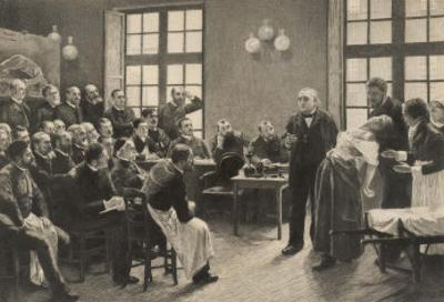 Charcot and Asylum Patient by A. Lurat