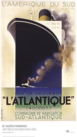 L'Atlantique by A.M. Cassandre