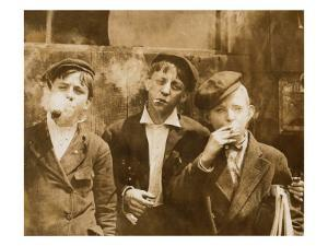 A.M. Monday, Newsies at Skeeter's Branch They Were All Smoking, St. Louis, Missouri, May 9, 1910